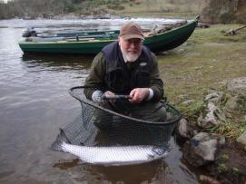 Ian with a prize salmon