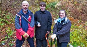 Fergus, (PKC), Helen (NHS), and David at The Birks of Aberfeldy Oct 2014