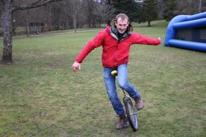 Richard on the unicycle