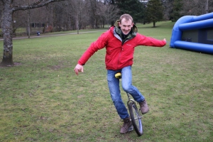 Richard on the unicycle