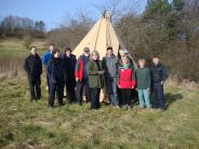 Successfully set-up tepee