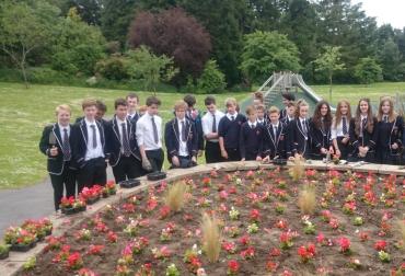 MacRosty Pavilion summer planting June 2015