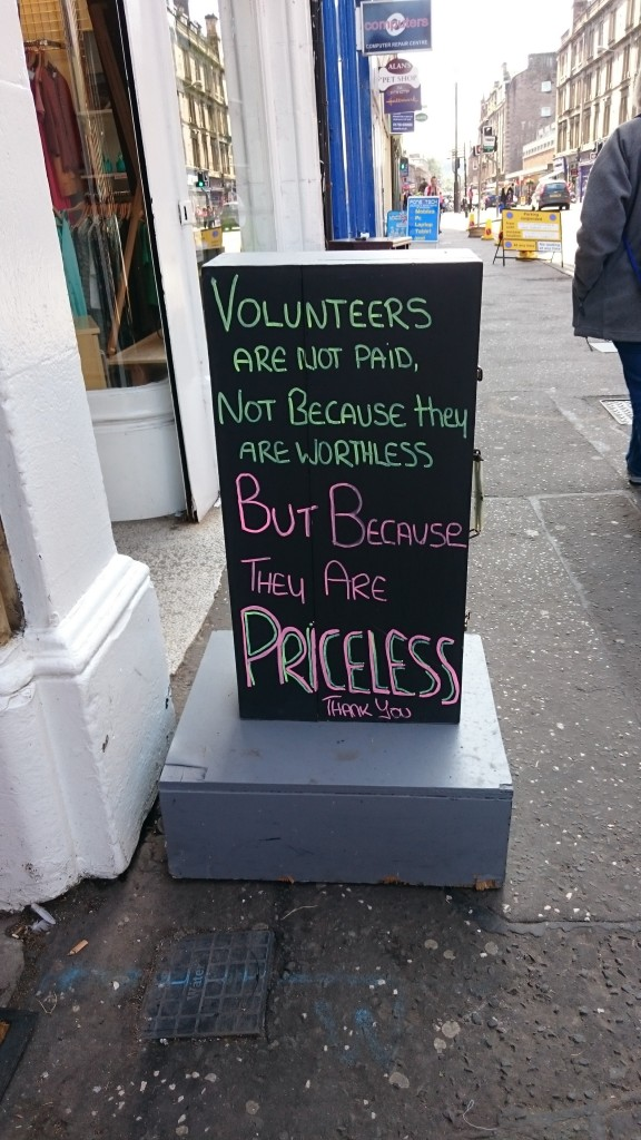 The cost of volunteers...