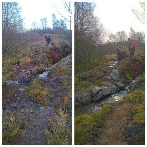 Burnside path repair at Glenisla