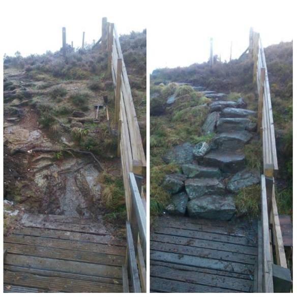 Steps at Pitcarmick