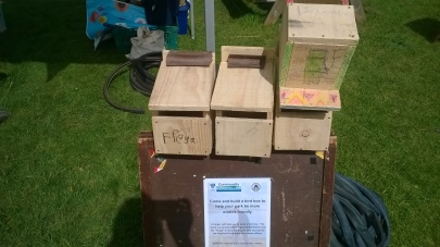 "The finished boxes, all with their own ""identification"" markings."