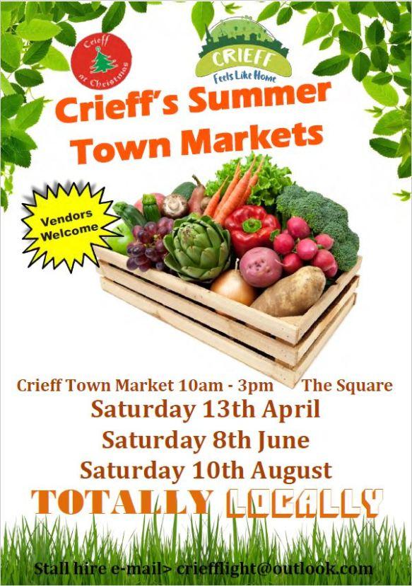Crieff Summer Markets 2019